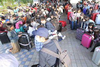 先発組は伊丹空港に6:45に集合!