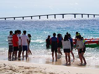 前浜ビーチは宮古島でも有数の景観です