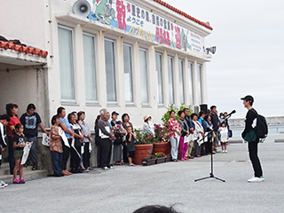 入村式 修学旅行委員の挨拶