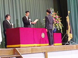 卒業証書授与 代表